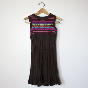 Hanna Andersson Brown Sweater Dress Sz 5T